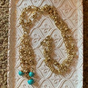 Lilly Pulitzer tassel turquoise necklace